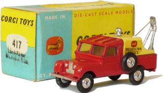 Land Rover breakdown truck Corgi-Toys