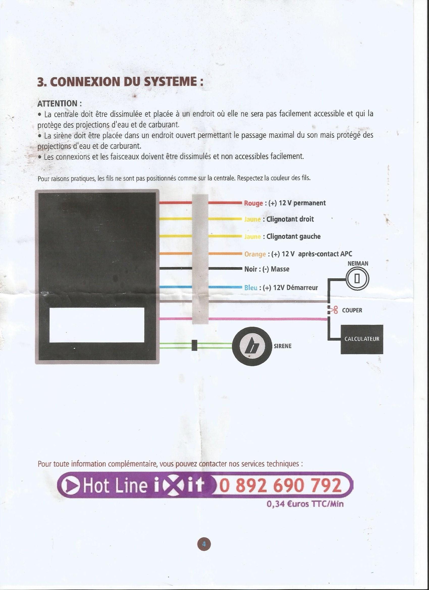 TUTO pose alarme sur Yamaha TDR 5AE pour moins de 11€ 17120206222411691015398636