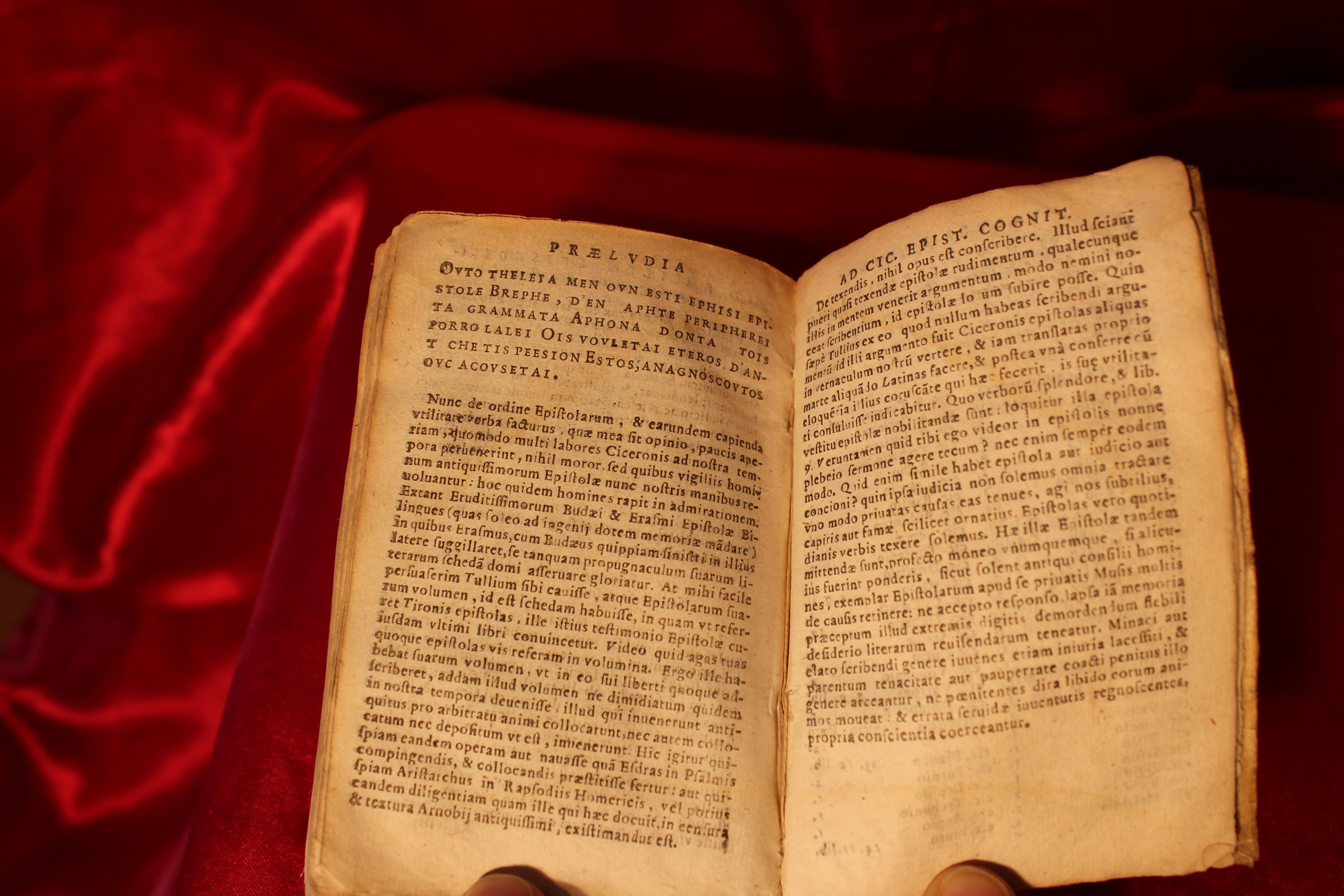 1630 RARE XVIIème LA17 ROUEN CICERON EPISTRES FAMILIERES contenues en 16 livres  - IMG_0836