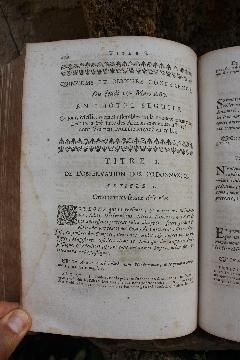 Album LA17 PROCEZ VERBAL CONFERENCES ORDONNANCE CIVILE 1667 et CRIMINELLE 1670 in-4