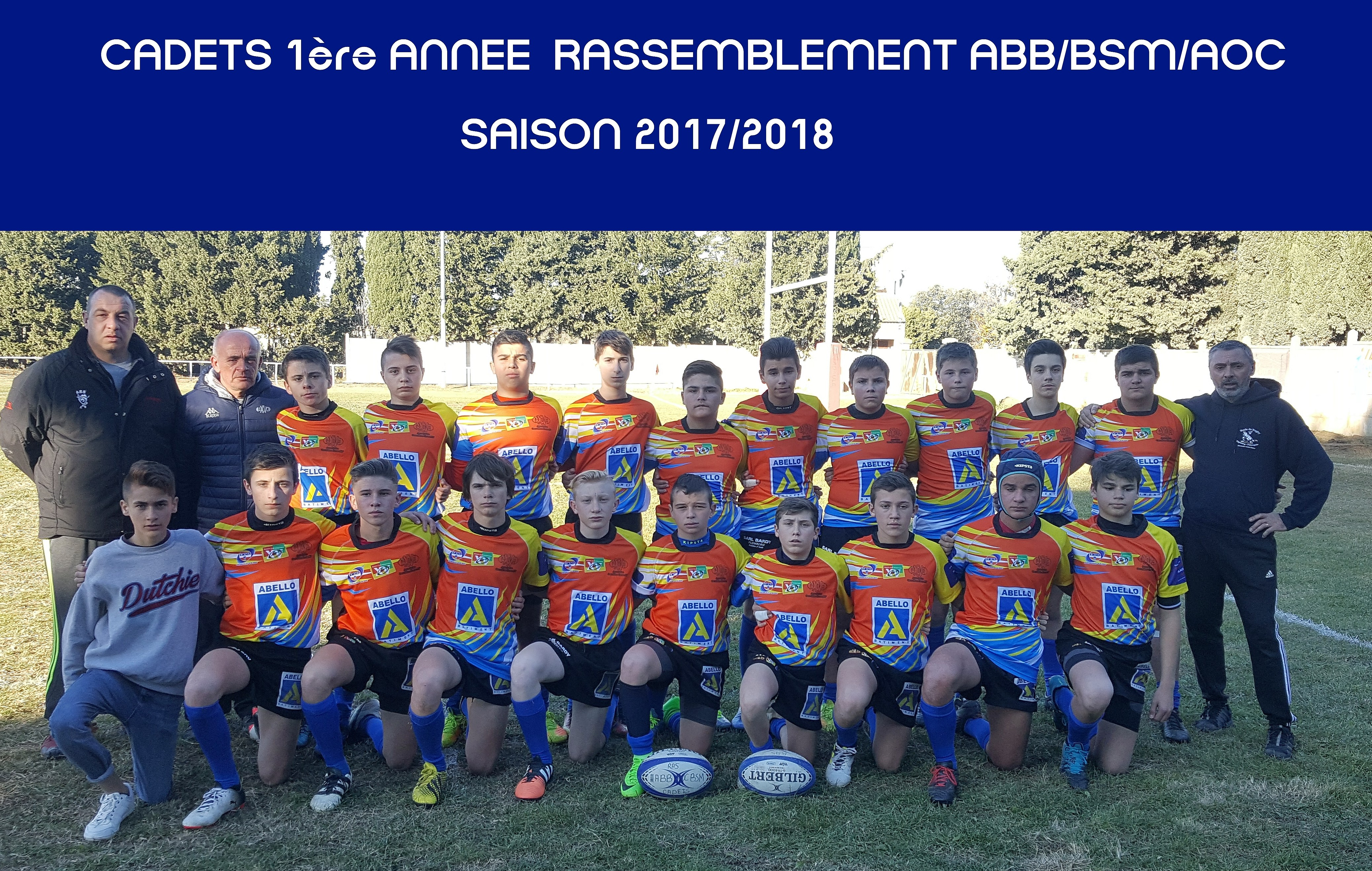 equipes 2018 - Cadets 1ere annee A
