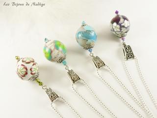 sautoir perles artisanales