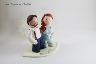figurines mariés champêtre personnalisée