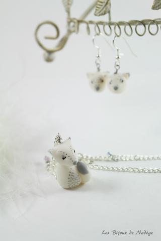 bijoux renard blanc