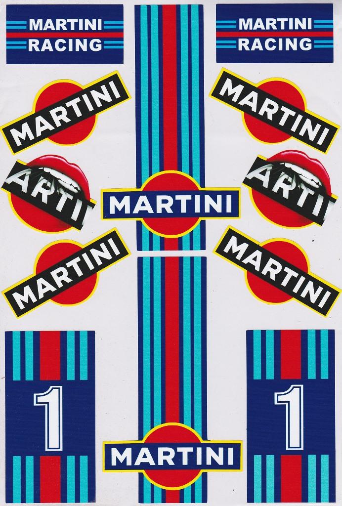 stickers Martini Racing