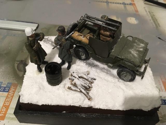 Ardennes hiver 1944-1945 Jeep blindée Dragon 1/35 17122001214821232415420179