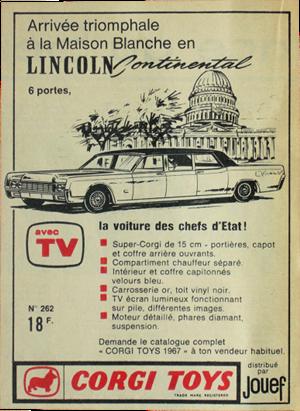 Lincoln Continental Corgi-Toys advert