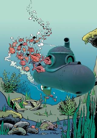 sous marin Schtroumpf