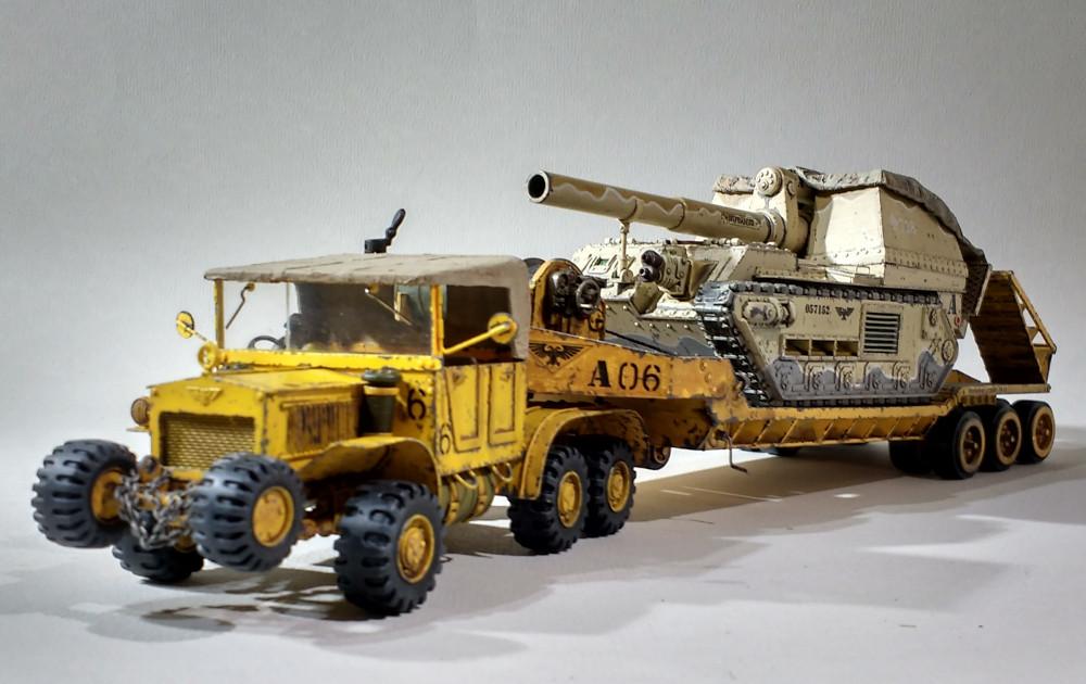 Un porte char en scratch pour W40K 18011012042323099315443154