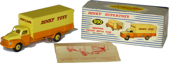Bedford type D Palett-Jekta van Dinky-Toys