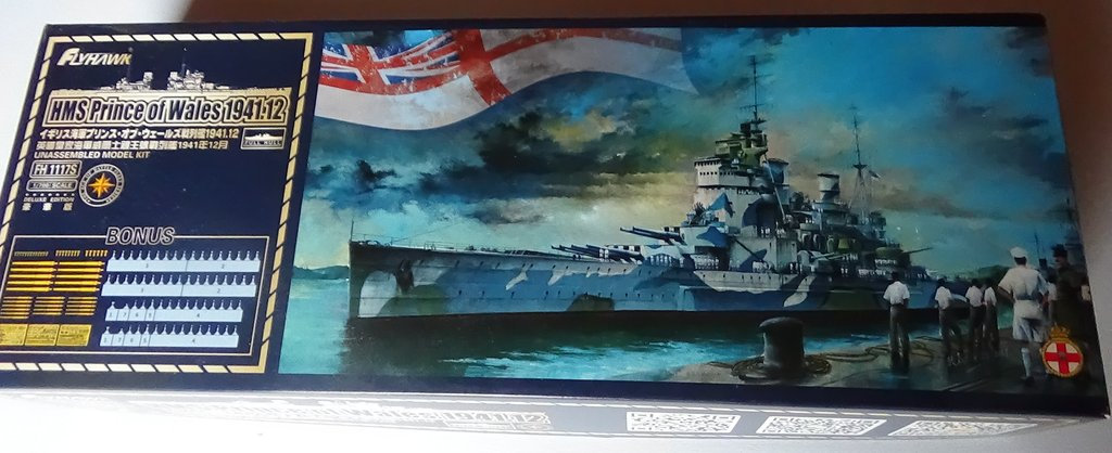 [HMS Prince of Wales] au 700e, kit Flyhawk, ouverture de boite 18012107550923134915487475