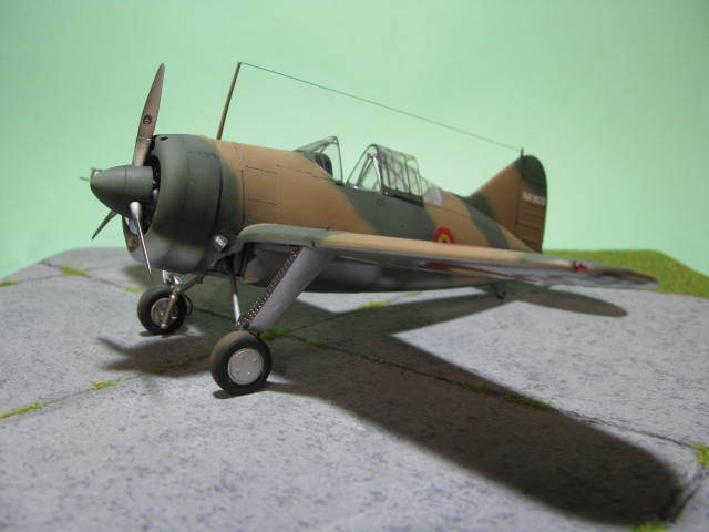 Montage terminé: Brewster Buffalo Aéronautique Militaire Belge Tamiya 1/48 18012509551123669015499625