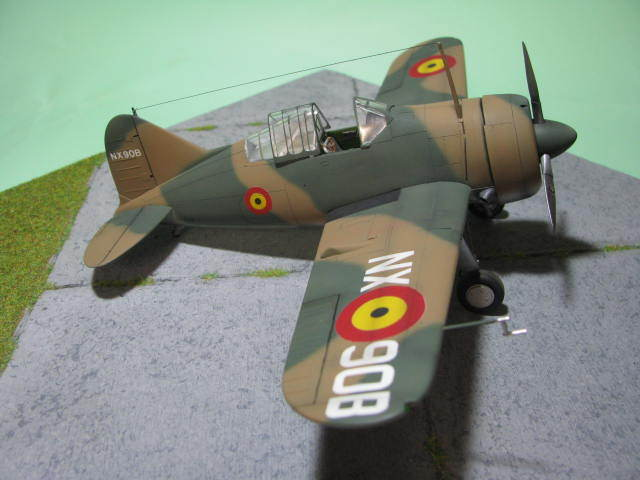 Montage terminé: Brewster Buffalo Aéronautique Militaire Belge Tamiya 1/48 18012509551523669015499630