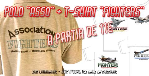 <FONT color=#035D00><b>Ventes textiles FIGHTERS + POLO ASSO</b></font>