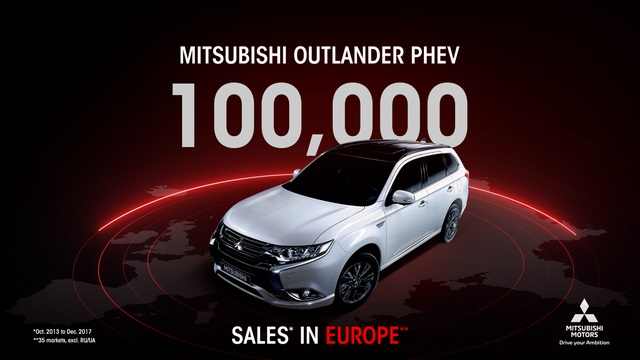 Mitsubishi Outlander PHEV - 100 000 ventes cumulées en Europe 180129055509788615516857