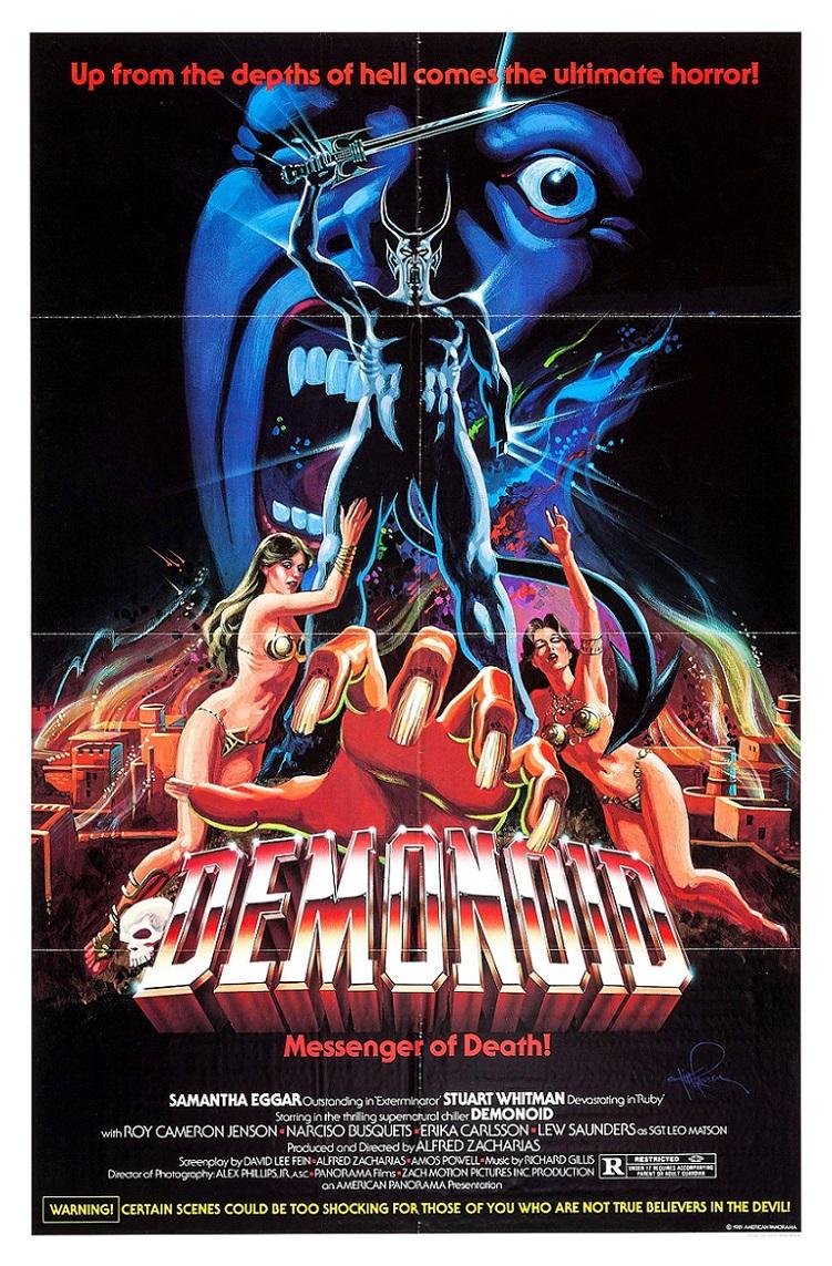 L'AFFICHE : DEMONOID, MESSENGER OF DEATH ! (1981) dans CINÉMA 18012906544115263615514273