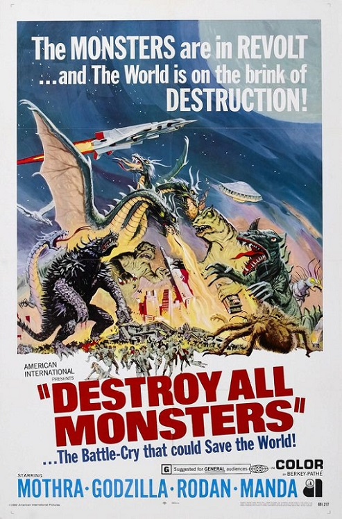 POSTEROÏDE - Destroy All Monsters dans Cineteek 18013012365415263615519494