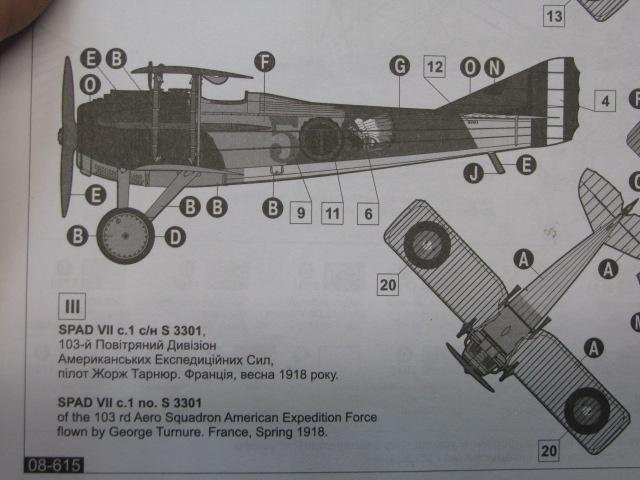 Spad VIIc Aéronautique militaire belge Roden 1/32 18020504502123669015537205
