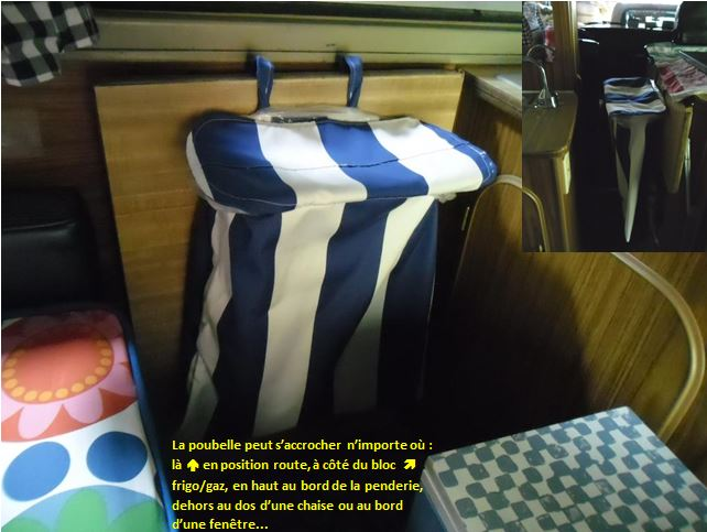 poubelle in camper