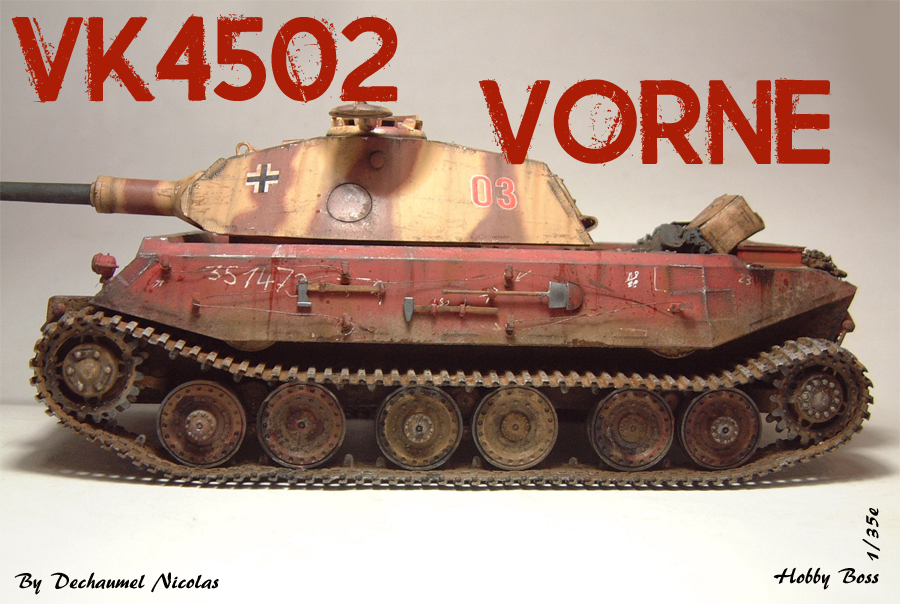 Vk4502 Vorne (prototype) Tourelle Porsche - 1/35e [HobbyBoss] 1802080833594769015544701