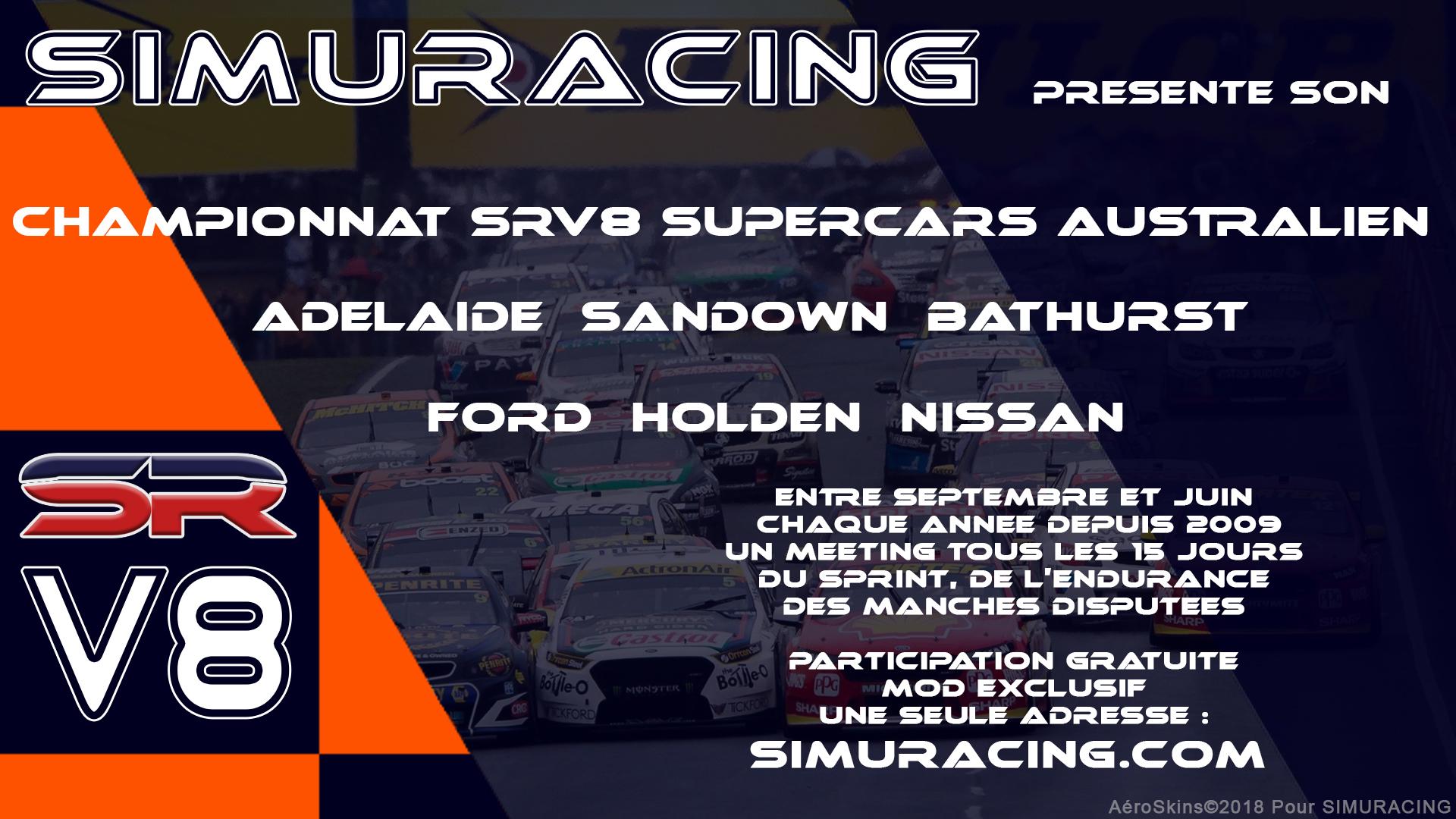 Championnat V8 SuperCars chez Simuracing